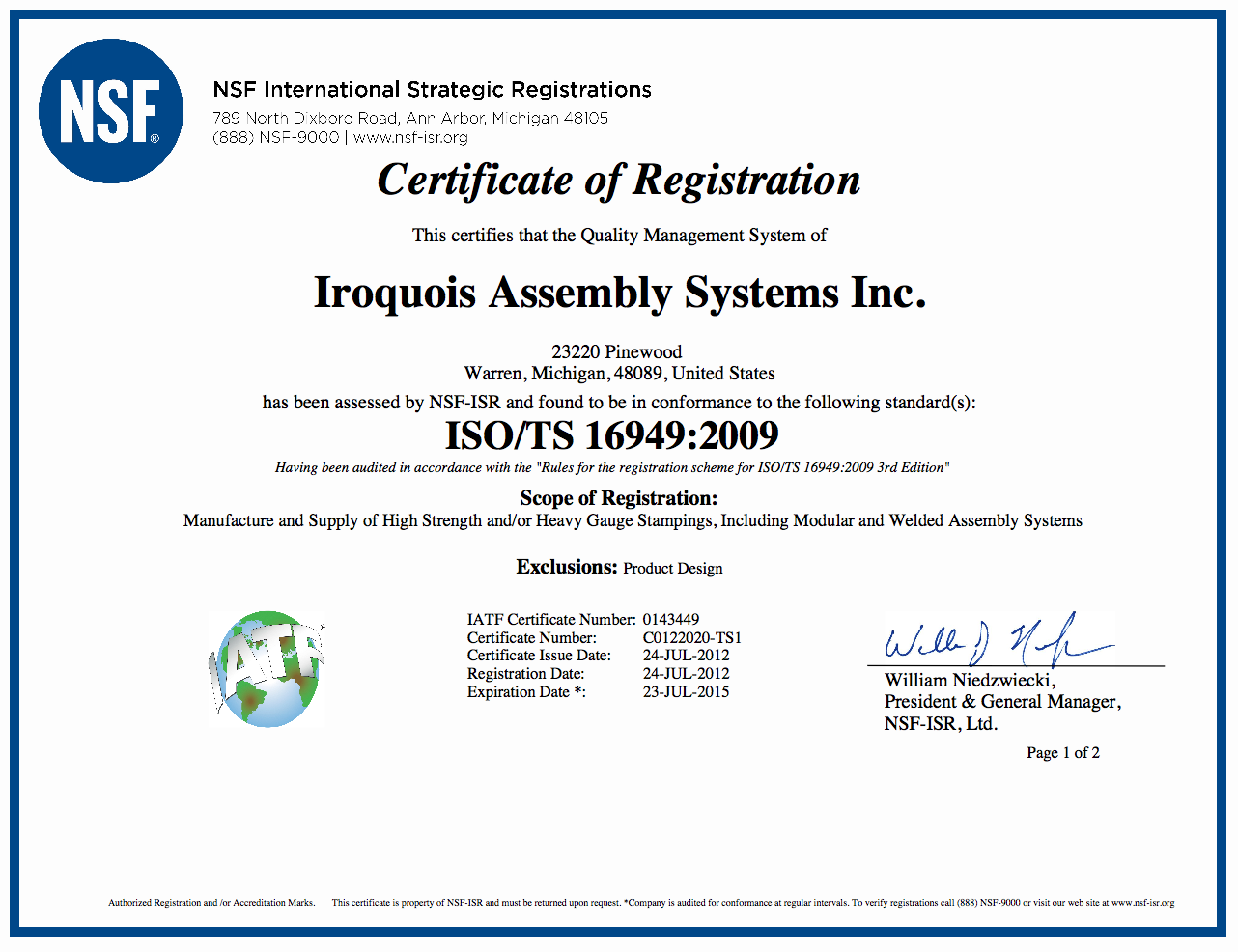 Iroquois Industries Computer Assisted Engineering
